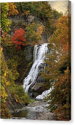 Ithaca Falls Canvas Print by Jessica Jenney