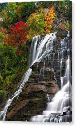 Ithaca Falls Canvas Print by Mark Papke
