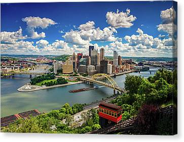 Canvas Print featuring the photograph It's A Beautiful Day In The Neighborhood by Emmanuel Panagiotakis