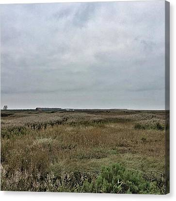 It's A Grey Day In North Norfolk Today Canvas Print by John Edwards