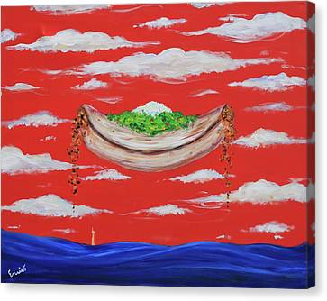 It's A Happy Enchilada And You Think You're Gonna Drown Canvas Print by Art Enrico