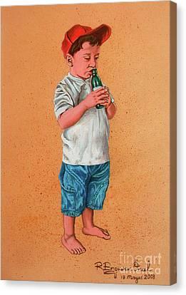It's A Hot Day - Es Un Dia Caliente Canvas Print
