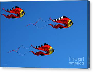 Bruster Canvas Print - It's A Kite Kind Of Day by Clayton Bruster