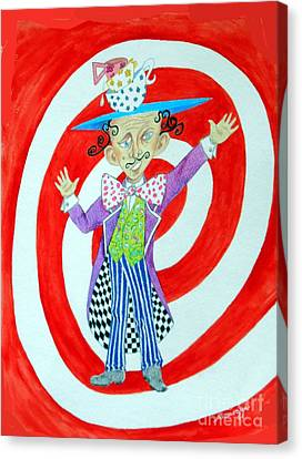 It's A Mad, Mad, Mad, Mad Tea Party -- Humorous Mad Hatter Portrait Canvas Print