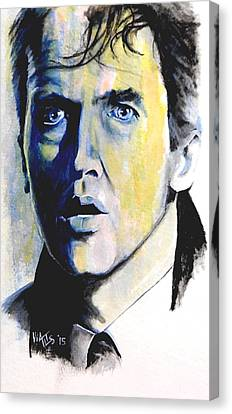 It's A Wonderful Life 1 - Jimmy Stewart Canvas Print by William Walts
