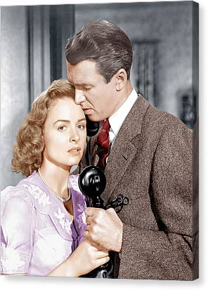 Its A Wonderful Life, From Left Donna Canvas Print by Everett