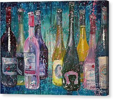 Vino Canvas Print - Its About Living by Jodi Monahan