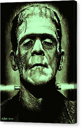It's Alive Jolly Green Giant Edit Canvas Print by Andrew Read
