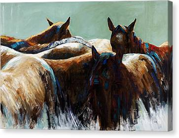 Its All About The Brush Stroke Canvas Print by Frances Marino