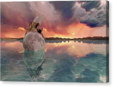 Reflecting Water Canvas Print - It's Almost Time by Betsy Knapp