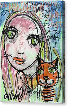 It's Amazing How Much I Love My Cat Canvas Print by Laurie Maves ART
