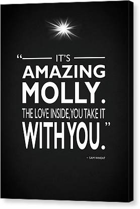 Its Amazing Molly Canvas Print by Mark Rogan