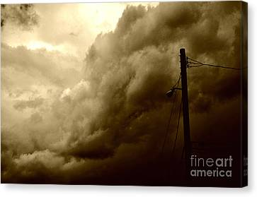 It's Coming Canvas Print by Clayton Bruster