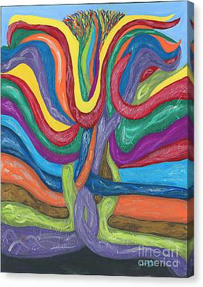 Canvas Print featuring the painting Its Complicated by Ania M Milo