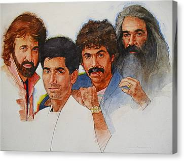 Canvas Print featuring the painting Its Country 4 - Oakridge Boys by Cliff Spohn
