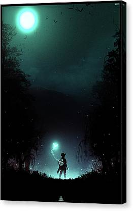 It's Dangerous To Go Alone Canvas Print by Colin Morella