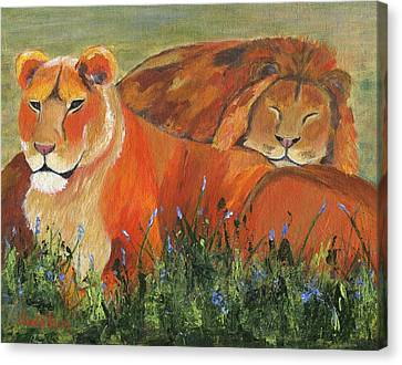 Canvas Print featuring the painting It's Good To Be King by Jamie Frier