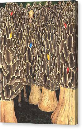 It's Like Looking For A Giraffe In A Forest Of Morels. Canvas Print by Catherine G McElroy