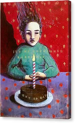 Its My Gd Birthday Canvas Print by Pauline Lim