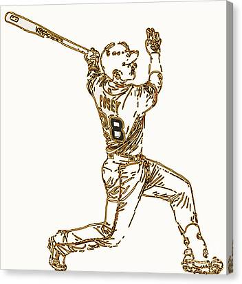 Buster Posey - Silver Slugger Award Winner And He Can Catch Too Canvas Print by Michael Bergman