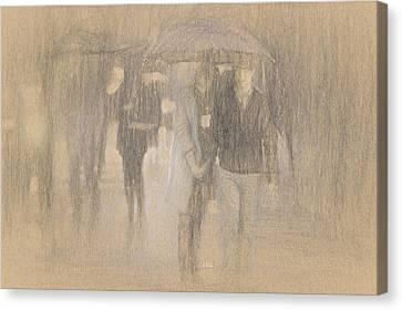 It's Raining In Georgia Canvas Print by Angela A Stanton