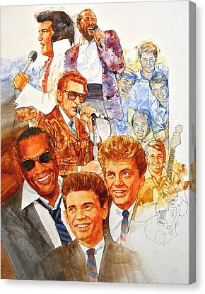 Canvas Print featuring the painting Its Rock And Roll 3 by Cliff Spohn