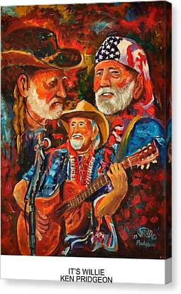 It's Willie Canvas Print