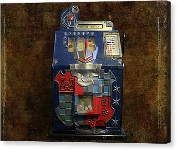 It's Your Dime-1936 Antique Slot Machine Canvas Print by Donna Kennedy