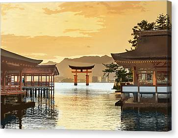 Miyajima Canvas Print - Itsukushima Shrine Miyajima Hiroshima Japan by Elaine Plesser