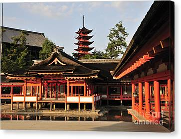 Miyajima Canvas Print - Itsukushima Shrine Miyajima Japan by Andy Smy