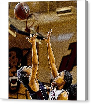 Sports Canvas Print - @iupui @iupui_jaguars #iupuijags #iupui by David Haskett