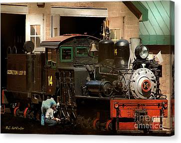 I've Been Working On The Railroad Canvas Print by RC DeWinter