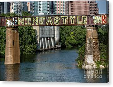 I've Got Ninja Style Is A Mural Painting On The Austin Railroad  Canvas Print