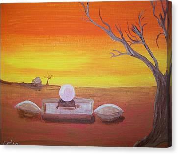 Ive Seen Enough Canvas Print by Laurette Escobar