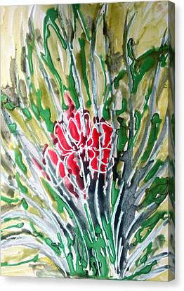 Ivine Flowers Canvas Print by Baljit Chadha