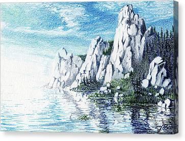 Ivory Cliffs Canvas Print by Nils Bifano