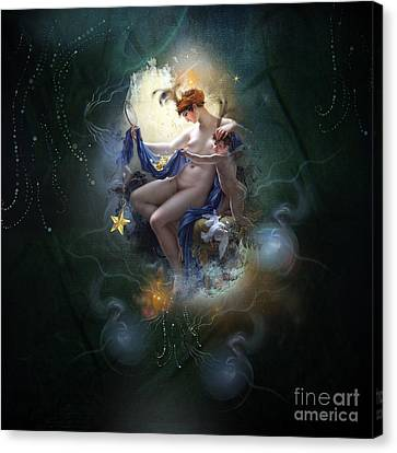 Starlight Canvas Print - I.v.y by Monique Hierck