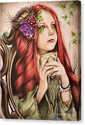 Purple Flowers Canvas Print - Ivy by Sheena Pike
