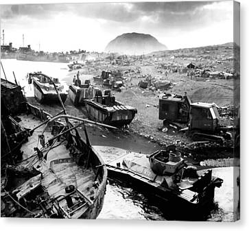 Iwo Jima Beach Canvas Print by War Is Hell Store