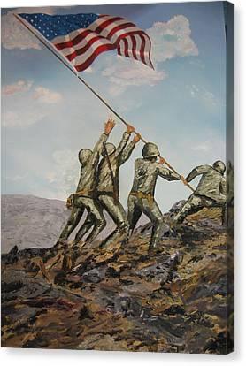 Iwo Jima Canvas Print by Brian Hustead