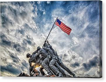Iwo Jima Memorial Canvas Print by Susan Candelario