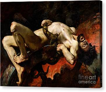 Zeus Canvas Print - Ixion Thrown Into Hades by Jules Elie Delaunay