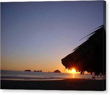 Canvas Print featuring the photograph Ixtapa Sunset by Jack G  Brauer