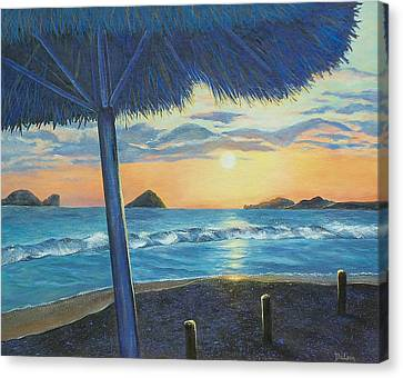 Canvas Print featuring the painting Ixtapa by Susan DeLain
