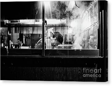 Canvas Print featuring the photograph Izakaya Steam by Dean Harte