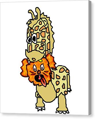 Izzy As Giraffe Canvas Print