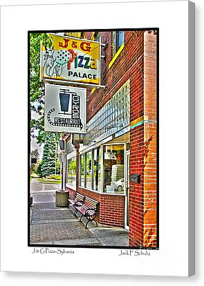 J And G Pizza Palace Canvas Print