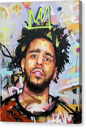 J Cole Canvas Print by Richard Day
