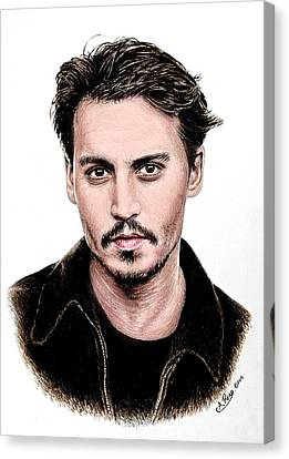 J Depp Colour 1 Canvas Print by Andrew Read