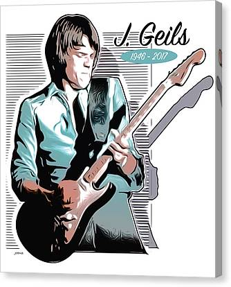 J Geils Canvas Print by Greg Joens
